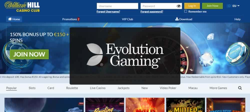 William Hill Partners With Evolution