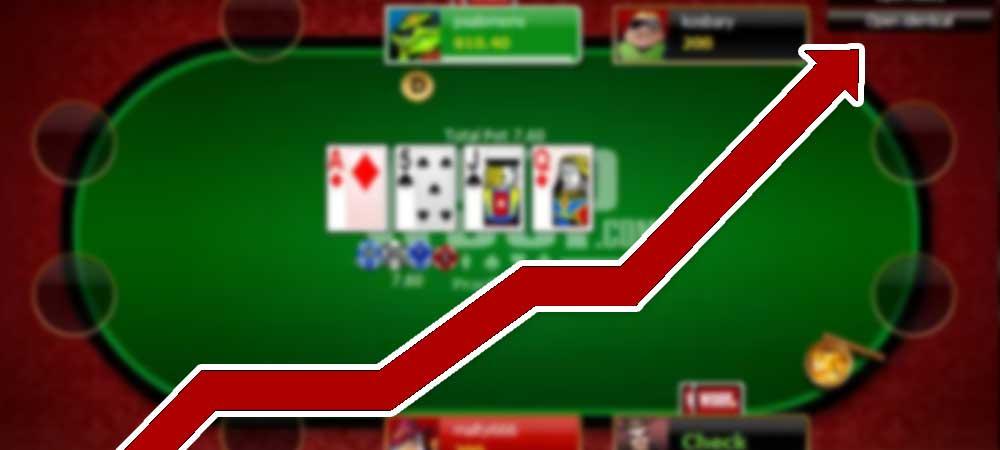 Poker Revenue Increase